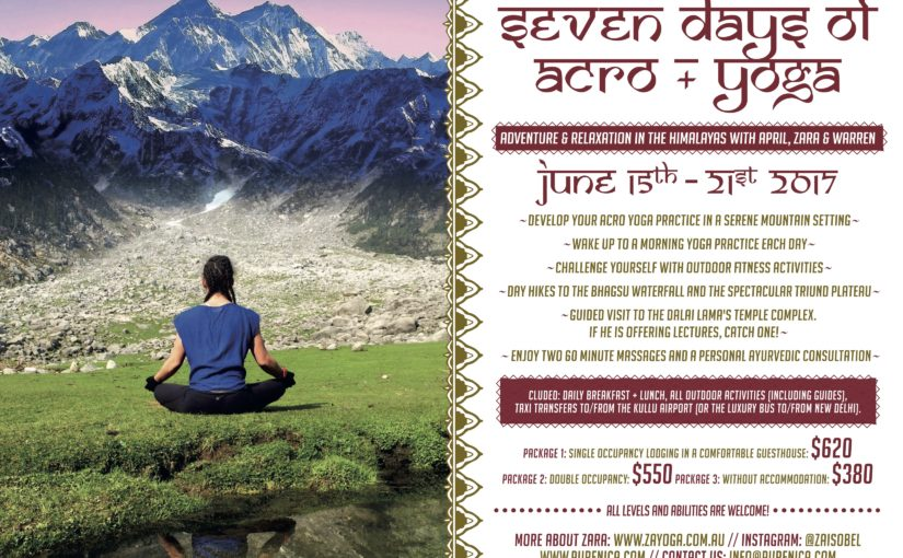 Acro Yoga Retreat with April & Warren in the Himalayas, 15-21 of June, 2017